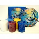 Wholesale Seascape Tin with Votives