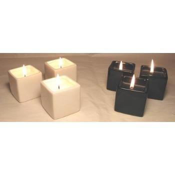 Wholesale 3 Pc Square Candle Set