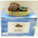 "Wholesale 3"" Holly Teenie Oval Candle Toppers"