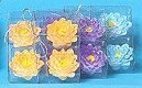 Wholesale 4 pack Floating Flower Candles