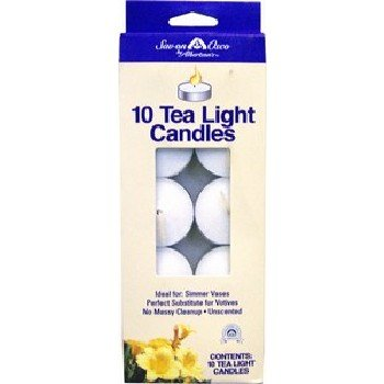Wholesale Tealight Candles, 10 Piece, White