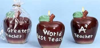 Wholesale Apple Shaped BestTeacher Candles