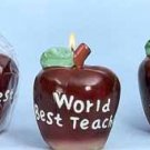 Wholesale Apple Shaped BestTeacher Candles