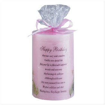 Wholesale Happy Birthday Candle with Dried Flowers