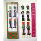 Wholesale Set of 2 Painted Stocking Tapered Candles 3177