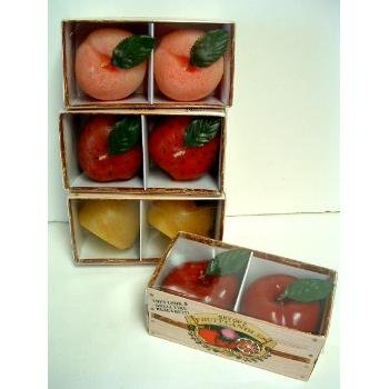 Wholesale Fruit Candle Set of 2