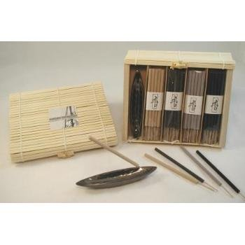 Wholesale 40 Pc Incense Set w/ Holder in Bamboo Box