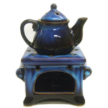 Wholesale Blue Glazed Teapot Oil Burner