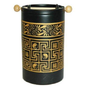 Wholesale Black and Gold FengShui Oil Burner Yin/Yang Symbol