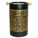 Wholesale Black and Gold FengShui Oil Burner Yin/Yang Symbol