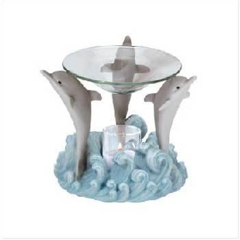Wholesale Alabastrite Oil Burner - Dolphin Tripod
