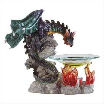 Wholesale Dragon and Flames Oil Warmer