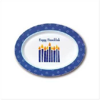 Wholesale Happy Hanukkah Oval Platter