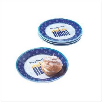 Wholesale Set 4 Hanukkah Dessert Plate