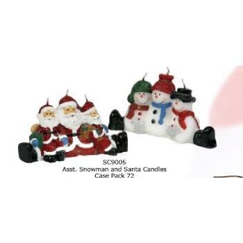 Wholesale Christmas Santa And Snowman Candles