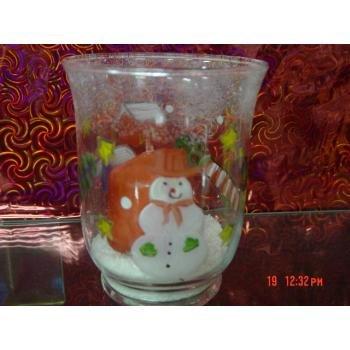 Wholesale Snowman Christmas Glass Votive Cup