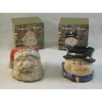 Wholesale Santa/Snowman Head Ceramic Votive