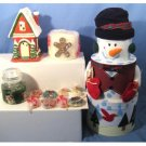 Wholesale Large Snowman Holiday Fragrance Set 14 piece asst