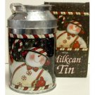 Wholesale Candy Snowman Milk Can Tin
