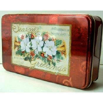 Wholesale Season Greeting Rectangle Tin