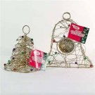 Wholesale Gold Wire Assorted Christmas Decorations Small