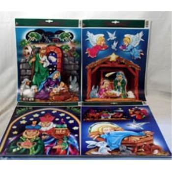 NEW! Wholesale Nativity Window Cling Assortment