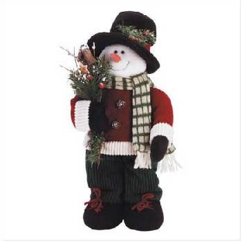 Wholesale Plush Snowman in Top Hat
