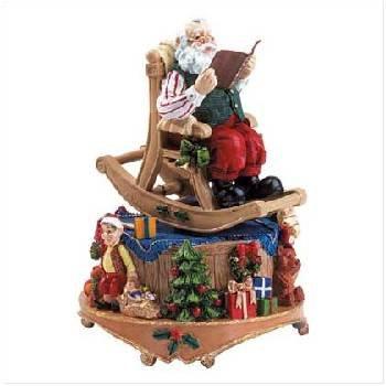 Wholesale Alabastrite Musical Santa Reading Book