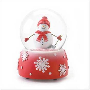 Wholesale Snowman Snowglobe Red and White