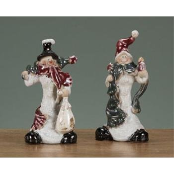 Wholesale Ceramic Standing Snowman Ornaments