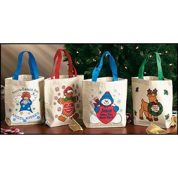 Wholesale Assorted Christmas Canvas Totes