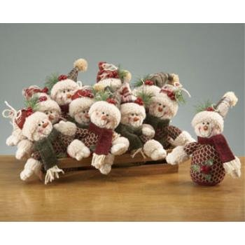 Wholesale Mr. & Mrs. Snowman Ornaments in Crate