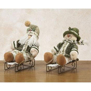 Wholesale Holly Snowman and Santa On Sleds