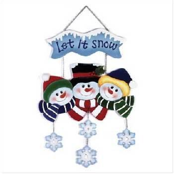 """Wholesale """"let It Snow"""" Snowman Family"""