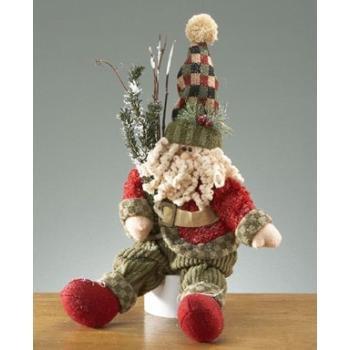 Wholesale Sitting Santa Figurine