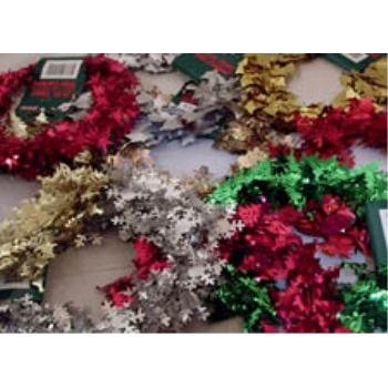 NEW! Wholesale 25 Foot Tinsel Wire Garland Assortment