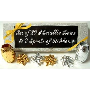 Wholesale 20 Count Bows & 2 Spools Ribbon