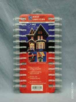 Wholesale 26 Pack Icicle Light Clips