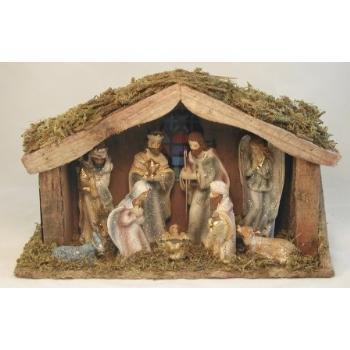 Wholesale Nativity w/Lighted Cresh