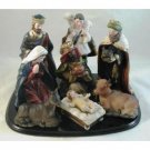 Wholesale Large 9 Pc Traditional Nativity Set w/Wood Base