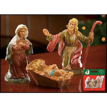 "Wholesale 3 Piece Nativity Set 2.5""H"