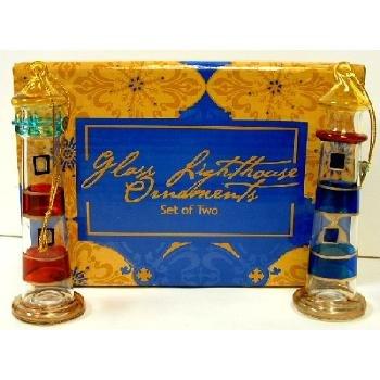 Wholesale Lighthouse glass ornament set