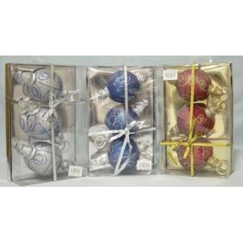 NEW! Wholesale 3 Pack Christmas Ball Ornament