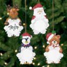 Wholesale Personalized Resin Character Snowflake Ornaments!