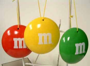 Wholesale M&M'S Character Ornaments Set/3