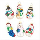 Wholesale Snowman Glass Ornaments