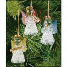 Wholesale Mini Colored Glass Angel Ornaments