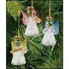 Wholesale Mini Colored Glass Angel Ornaments