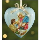 Wholesale Christmas Ornament Heart Shaped Mother and Child