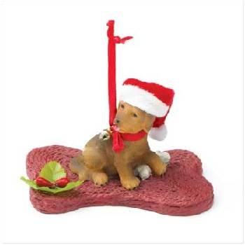 Wholesale Christmas Puppy with Bone Ornament